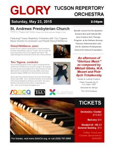 TRO Benefit Concert May23